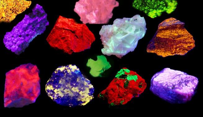 Minéraux fluorescents